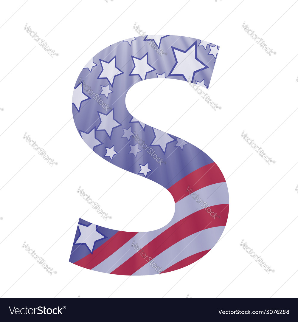 American letter s vector | Price: 1 Credit (USD $1)