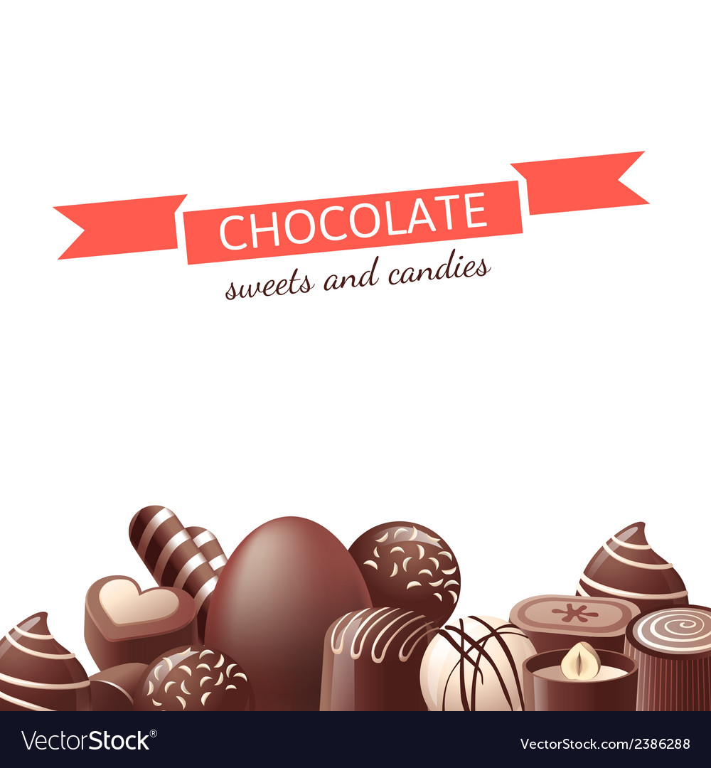 Chocolate sweets and candies vector | Price: 1 Credit (USD $1)