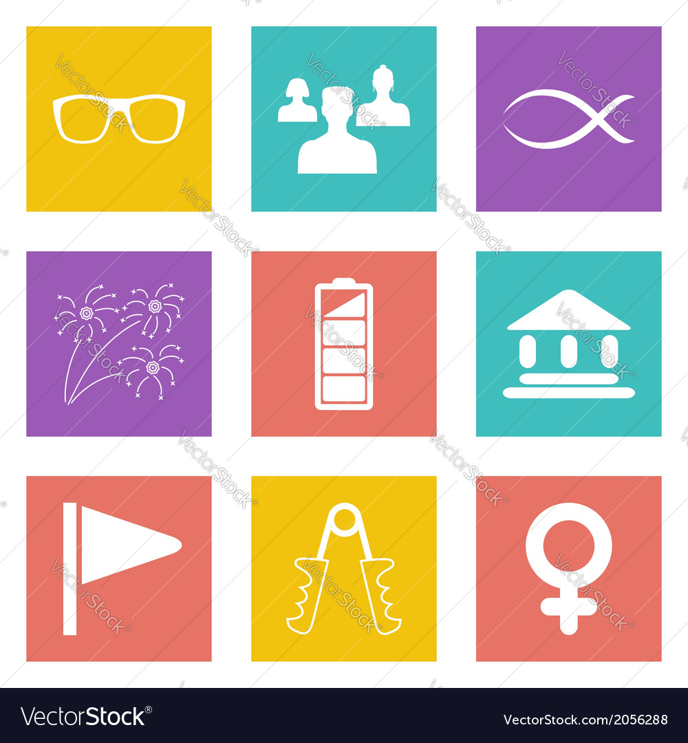 Color icons for web design set 33 vector   Price: 1 Credit (USD $1)