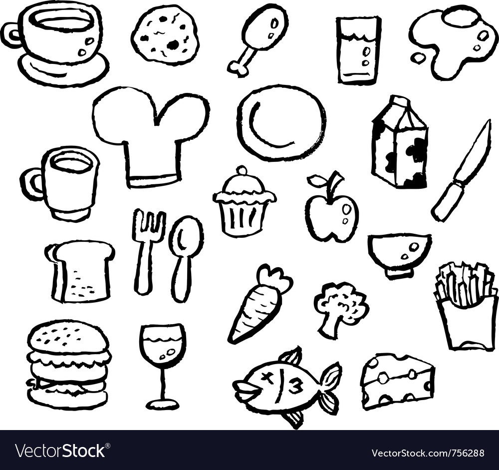 Doodle series - food vector | Price: 1 Credit (USD $1)