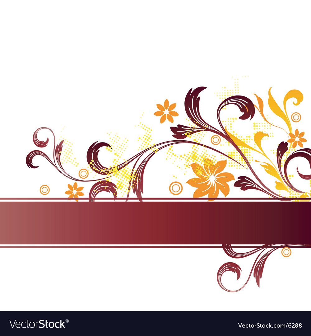 Floral graphic banner vector   Price: 1 Credit (USD $1)