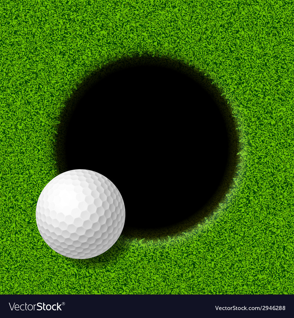Golf ball on lip of cup vector | Price: 1 Credit (USD $1)
