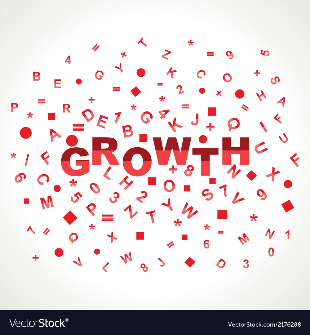 Growth word with in alphabets vector | Price: 1 Credit (USD $1)