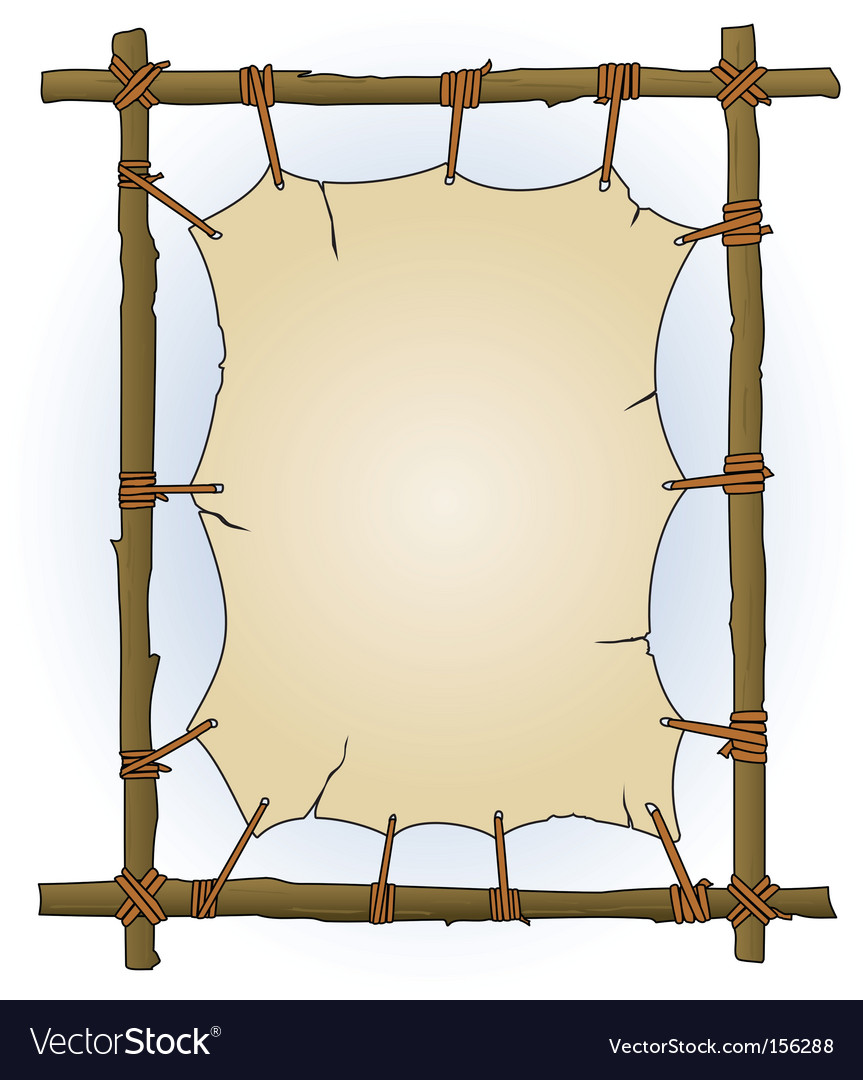 Primitive sticks and canvas frame vector | Price: 1 Credit (USD $1)