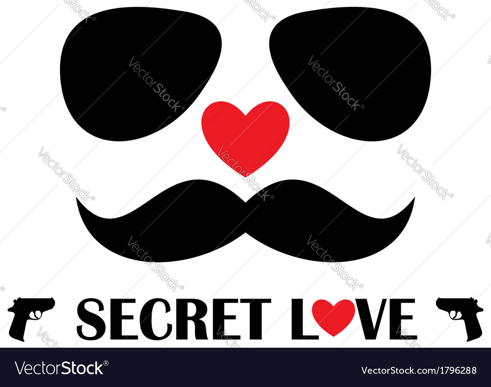 Secret love vector | Price: 1 Credit (USD $1)