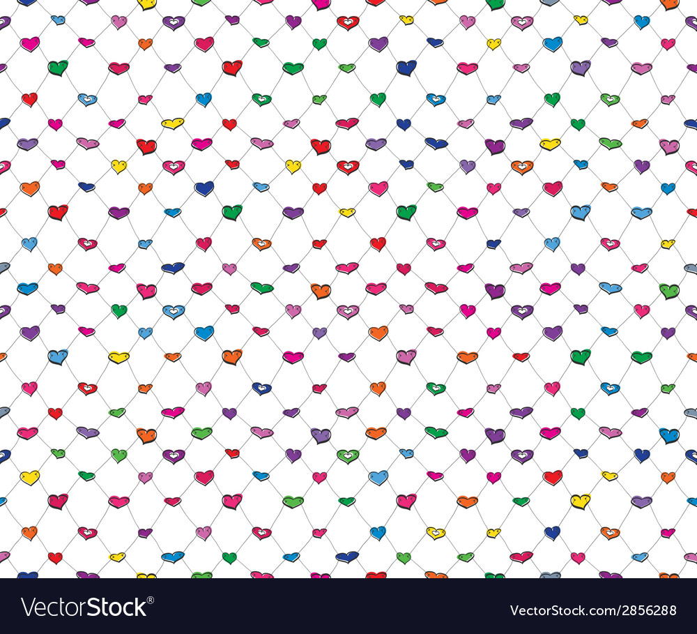 Sketch hearts net vector | Price: 1 Credit (USD $1)