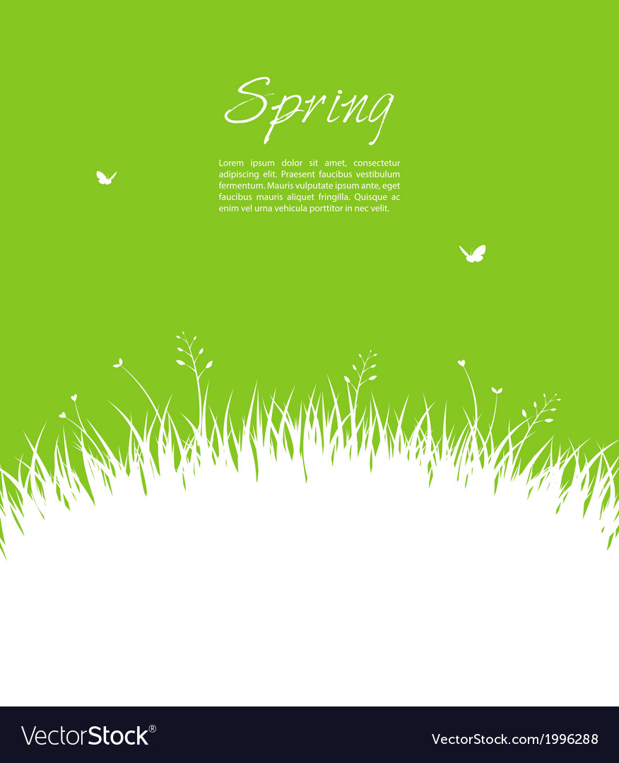 Summer background with grass vector   Price: 1 Credit (USD $1)