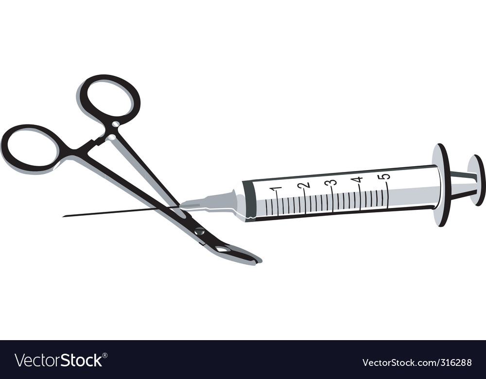Surgical scissor vector | Price: 1 Credit (USD $1)