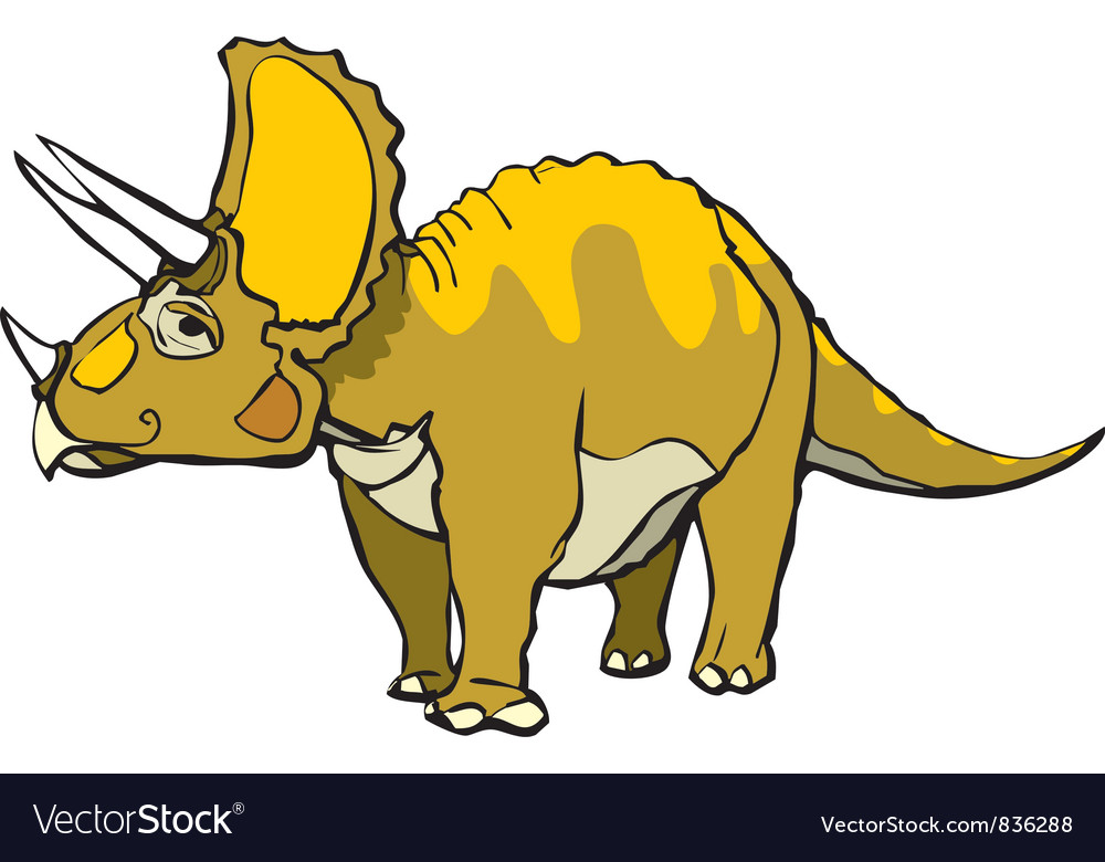 Triceratops vector | Price: 1 Credit (USD $1)