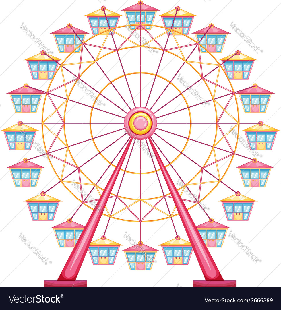A ferris wheel ride vector | Price: 1 Credit (USD $1)