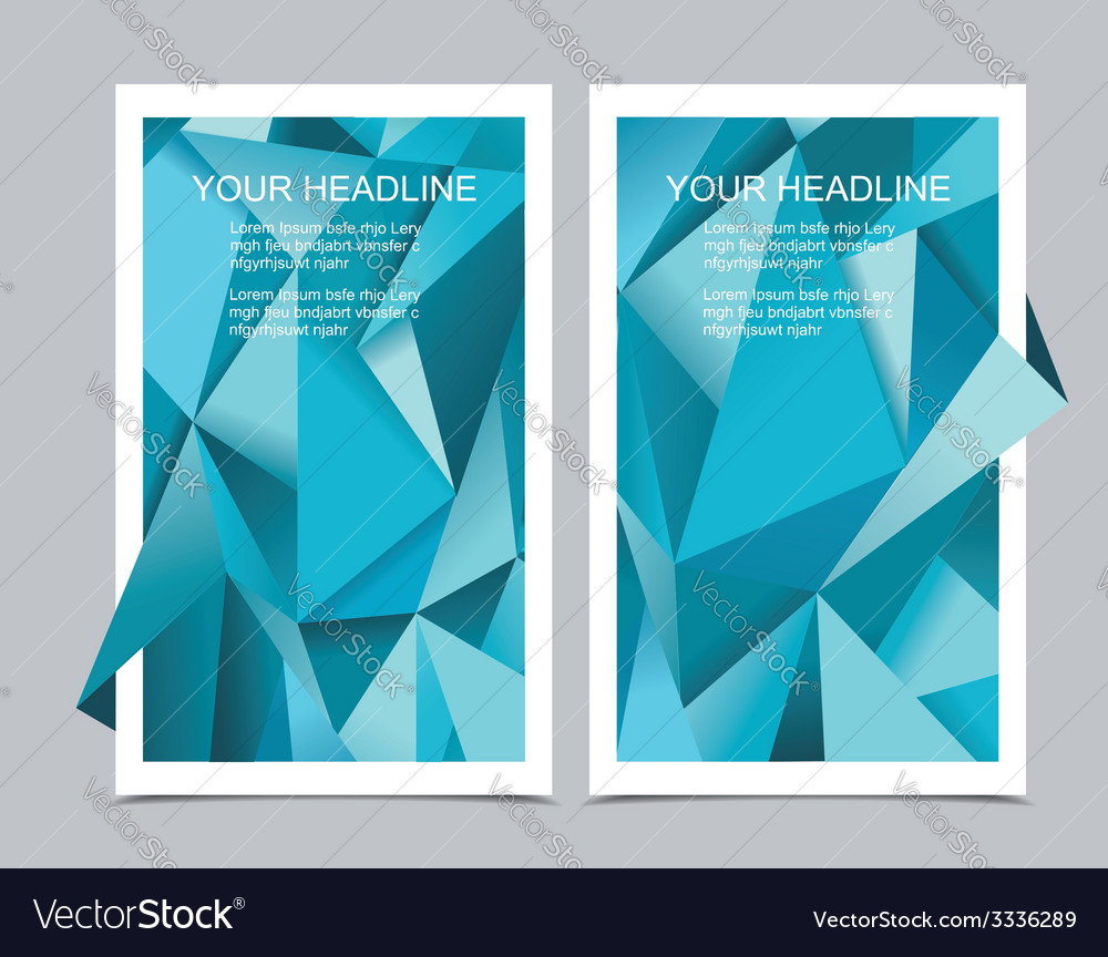 Banners with abstract geometrical background vector | Price: 1 Credit (USD $1)
