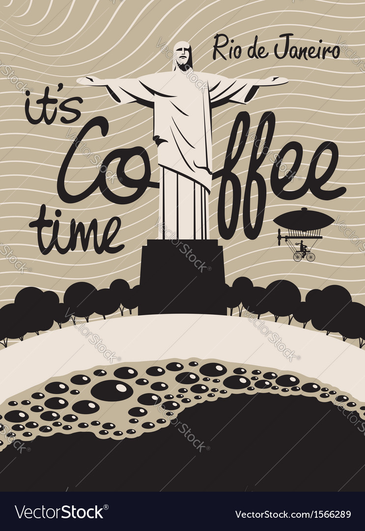 Coffee rio de janeiro vector | Price: 1 Credit (USD $1)
