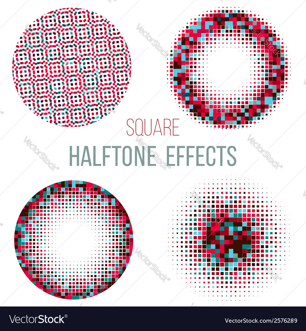 Colorful halftone circles vector | Price: 1 Credit (USD $1)