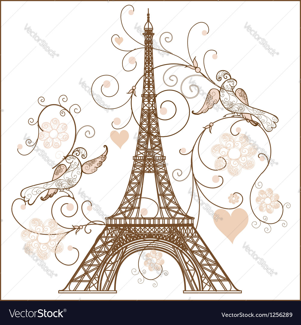 Eiffel tower vector | Price: 1 Credit (USD $1)
