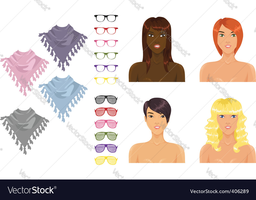 Female accessories vector | Price: 1 Credit (USD $1)