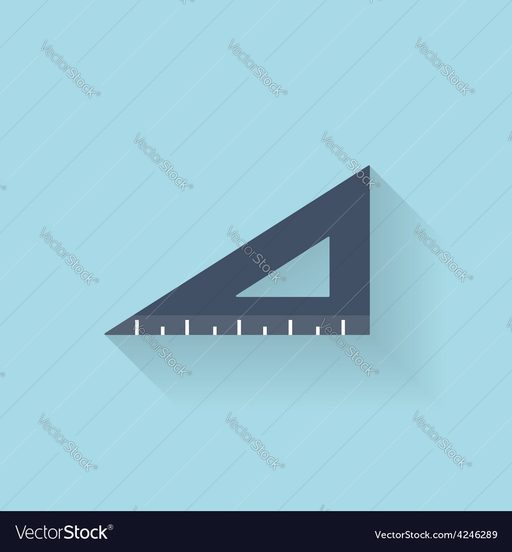 Flat ruler icon vector | Price: 1 Credit (USD $1)
