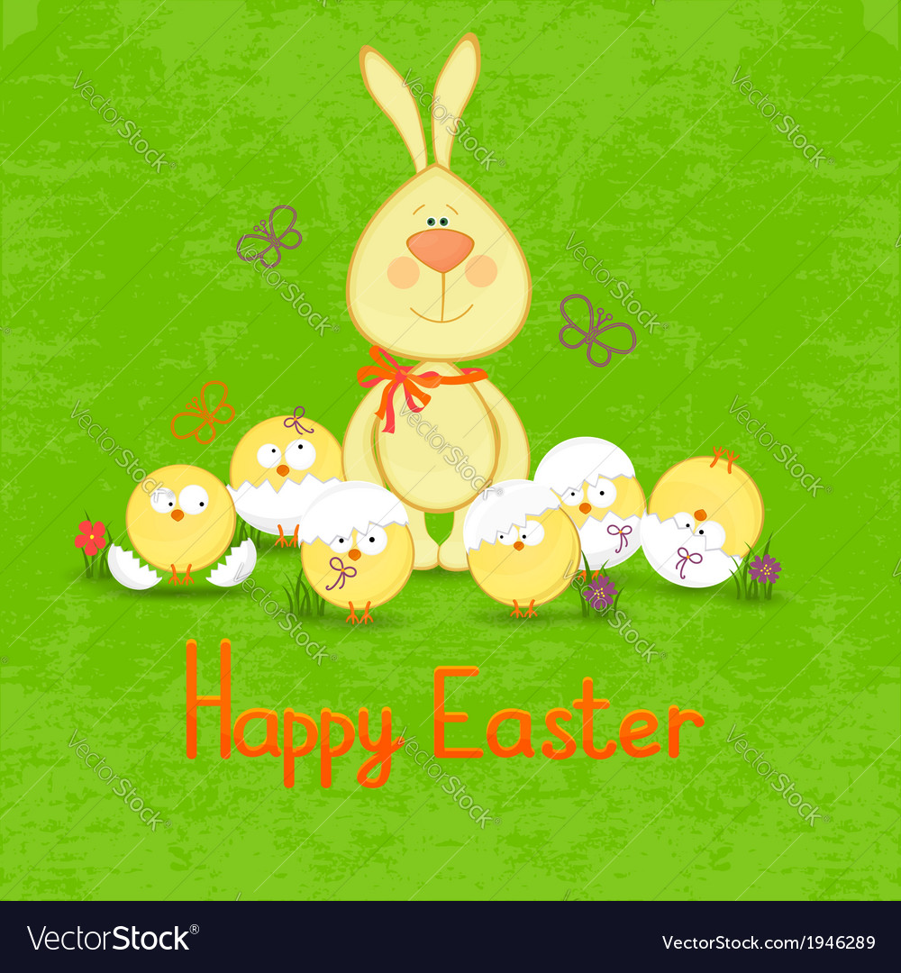 Happy easter cute easter bunny vector | Price: 1 Credit (USD $1)
