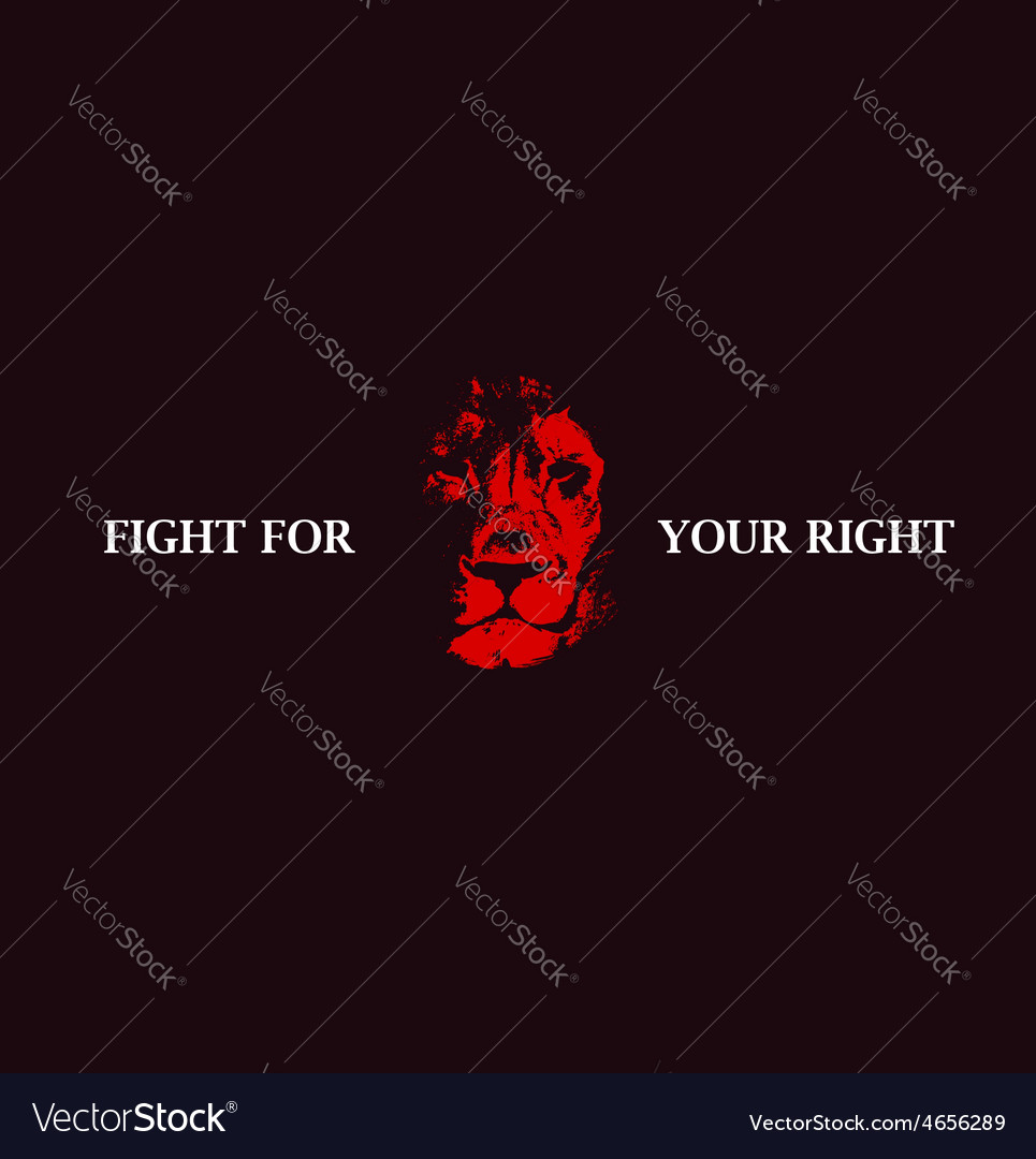 Lion head background poster vector | Price: 1 Credit (USD $1)