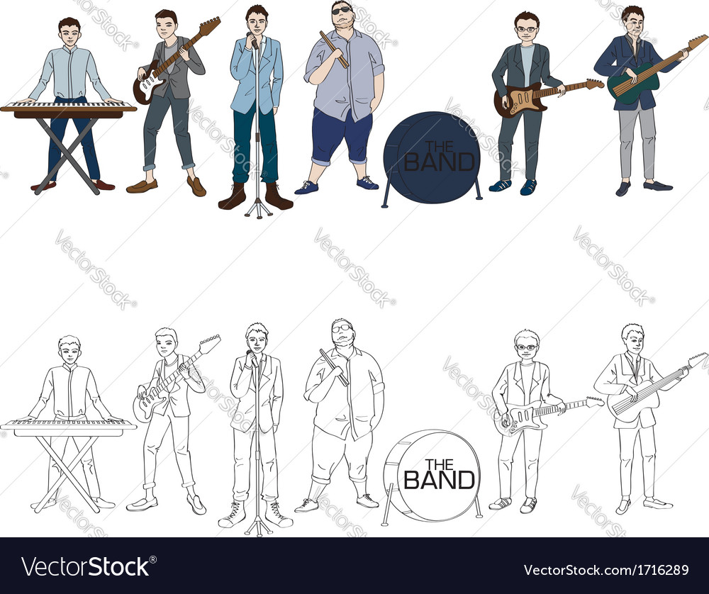 Musician band vector | Price: 1 Credit (USD $1)