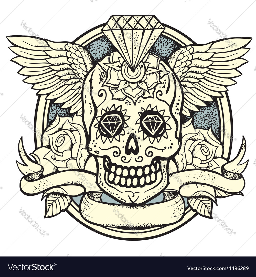 Sugar skull vector | Price: 3 Credit (USD $3)
