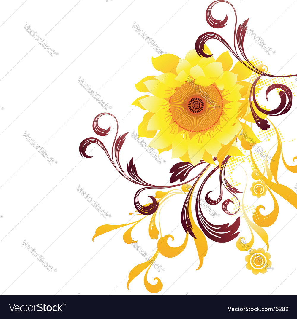 Sun flower graphic vector | Price: 1 Credit (USD $1)