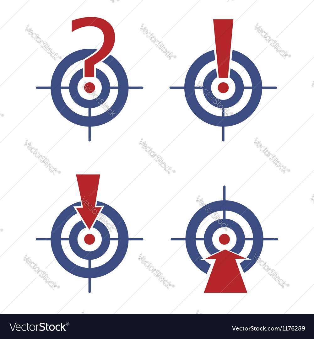 Target with marks and arrows vector | Price: 1 Credit (USD $1)