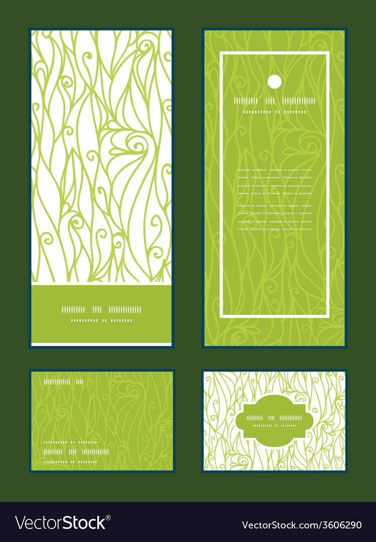 Abstract swirls texture vertical frame pattern vector | Price: 1 Credit (USD $1)