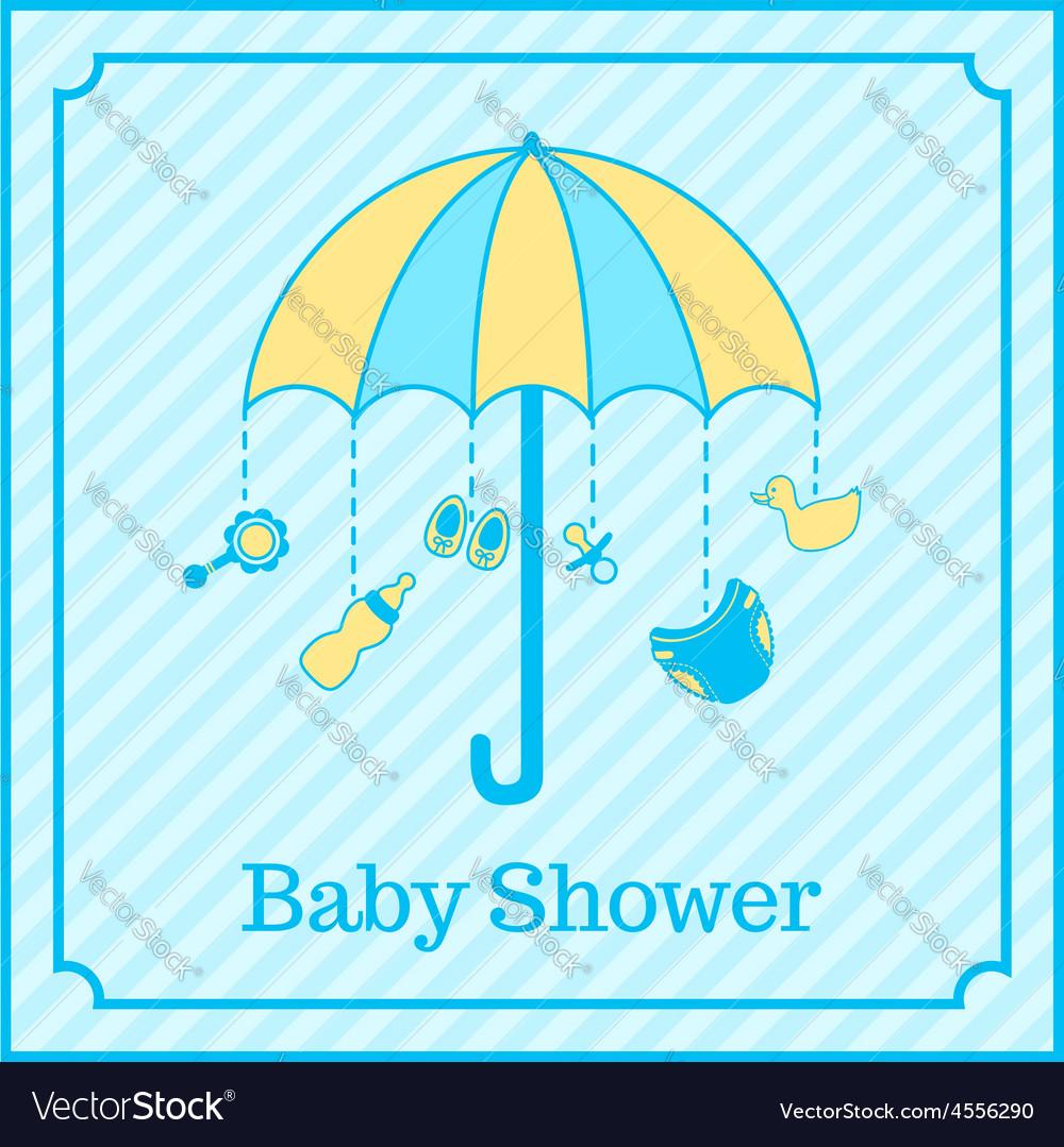 Baby boy shower invitation vector | Price: 1 Credit (USD $1)