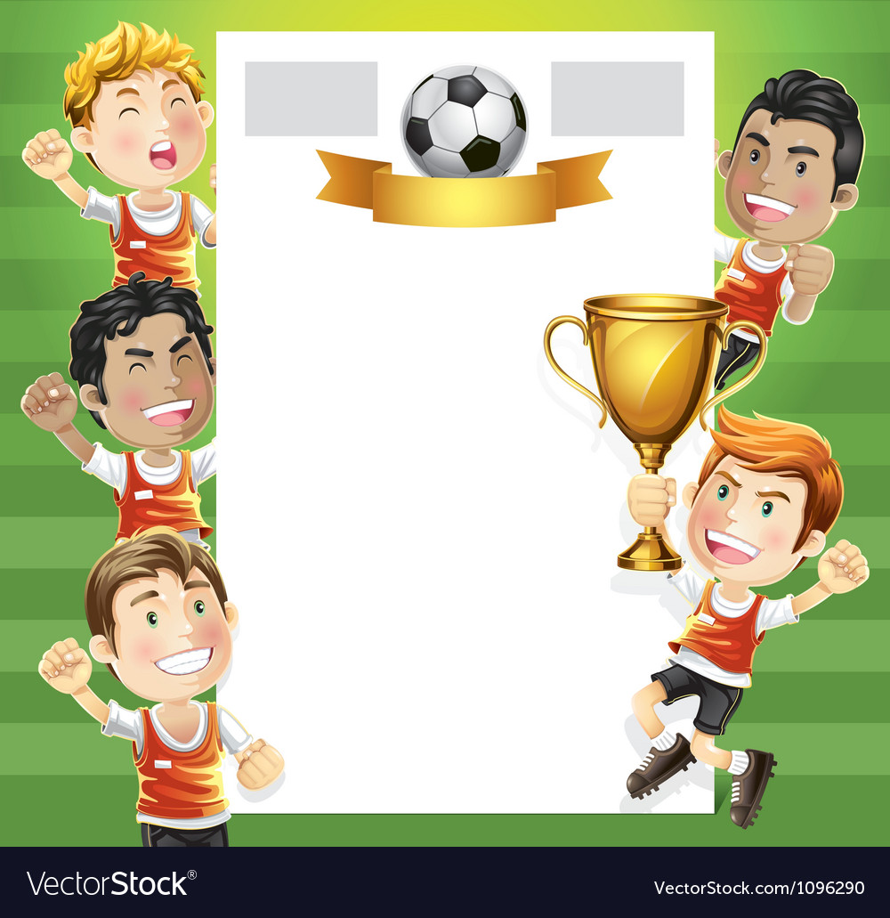 Children soccer scoreboard vector | Price: 3 Credit (USD $3)