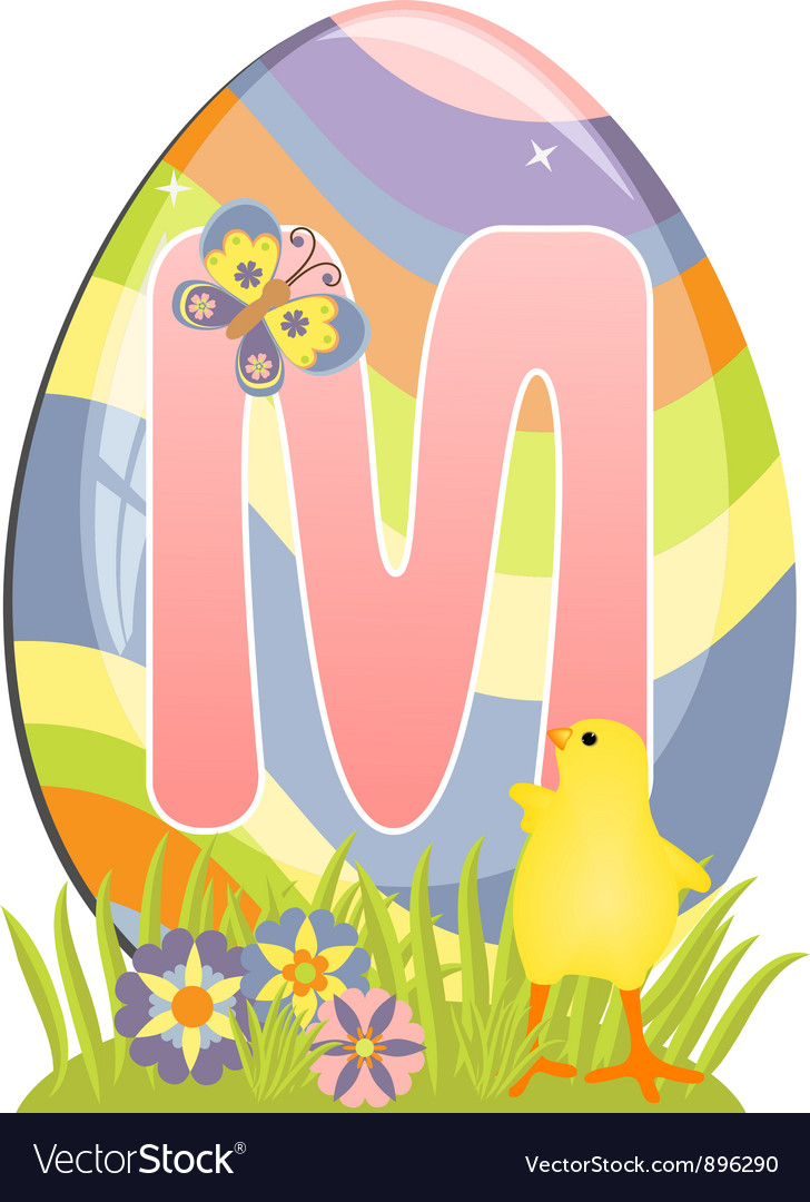 Cute initial letter m vector | Price: 1 Credit (USD $1)