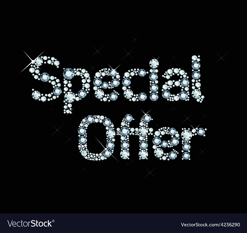 Dianond word special offer vector | Price: 1 Credit (USD $1)