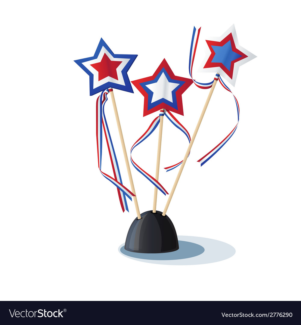 Image of american stars on the stand vector | Price: 1 Credit (USD $1)