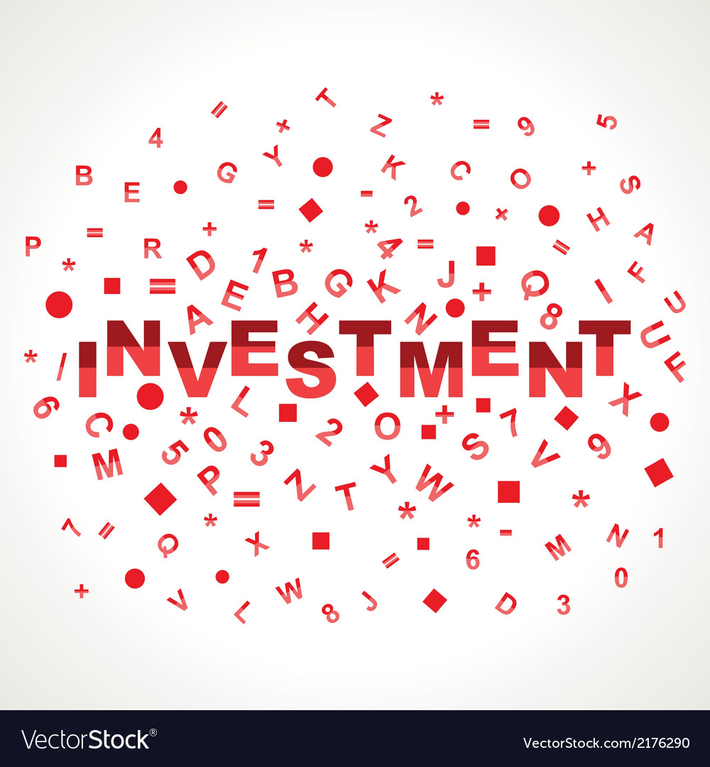 Investment word with in alphabets vector | Price: 1 Credit (USD $1)