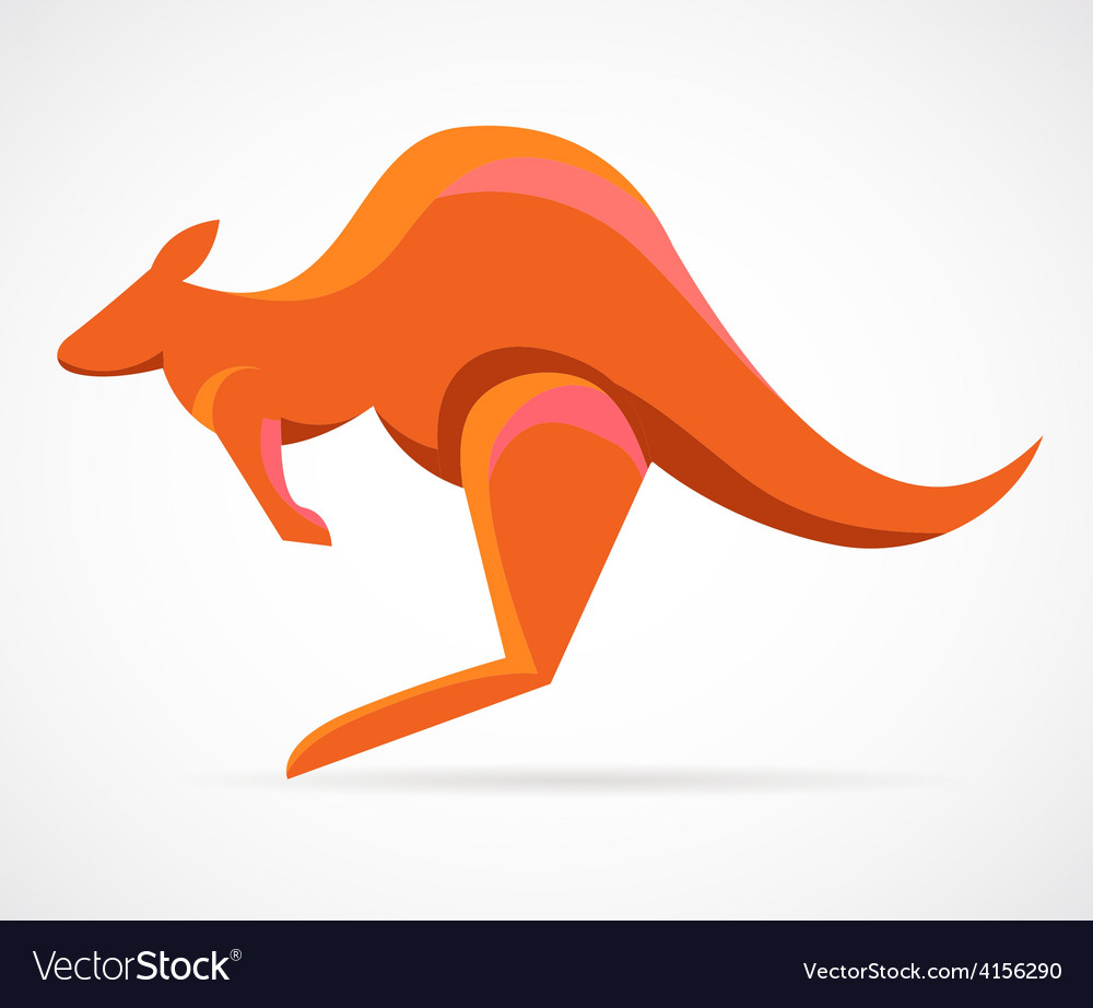 Kangaroo - vector | Price: 1 Credit (USD $1)