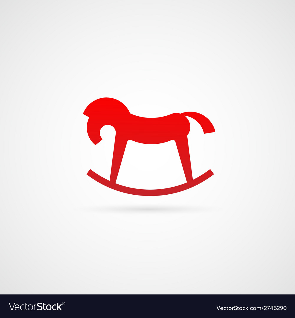 Rocking horse symbol icon vector | Price: 1 Credit (USD $1)