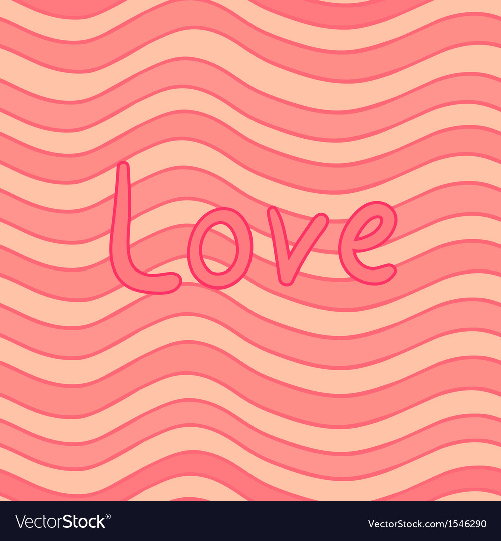 Stripy valentine card vector | Price: 1 Credit (USD $1)