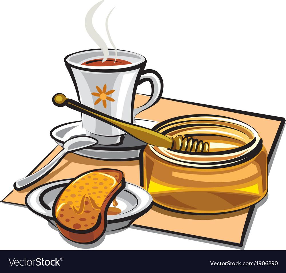 Tea with honey vector | Price: 3 Credit (USD $3)