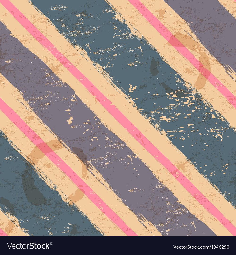Vintage seamless with watercolor stripes vector | Price: 1 Credit (USD $1)