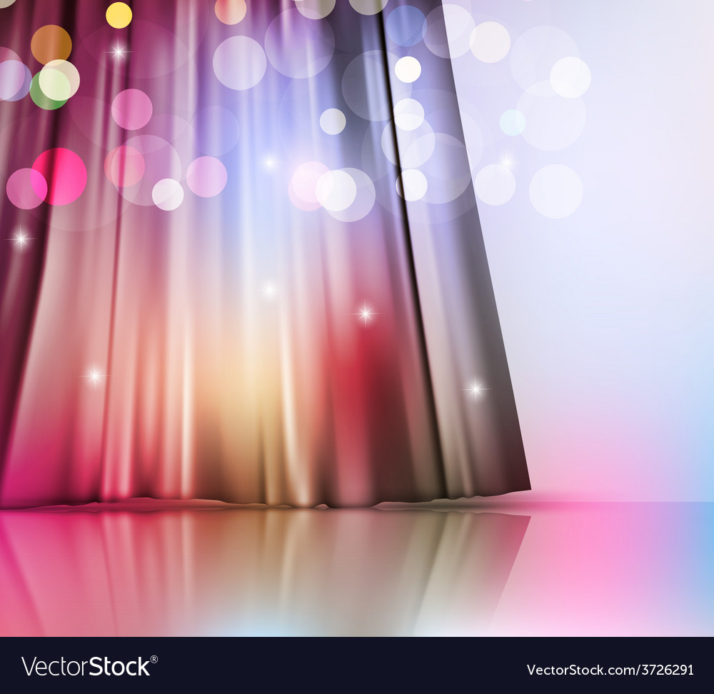 Background with theatre curtain vector | Price: 1 Credit (USD $1)