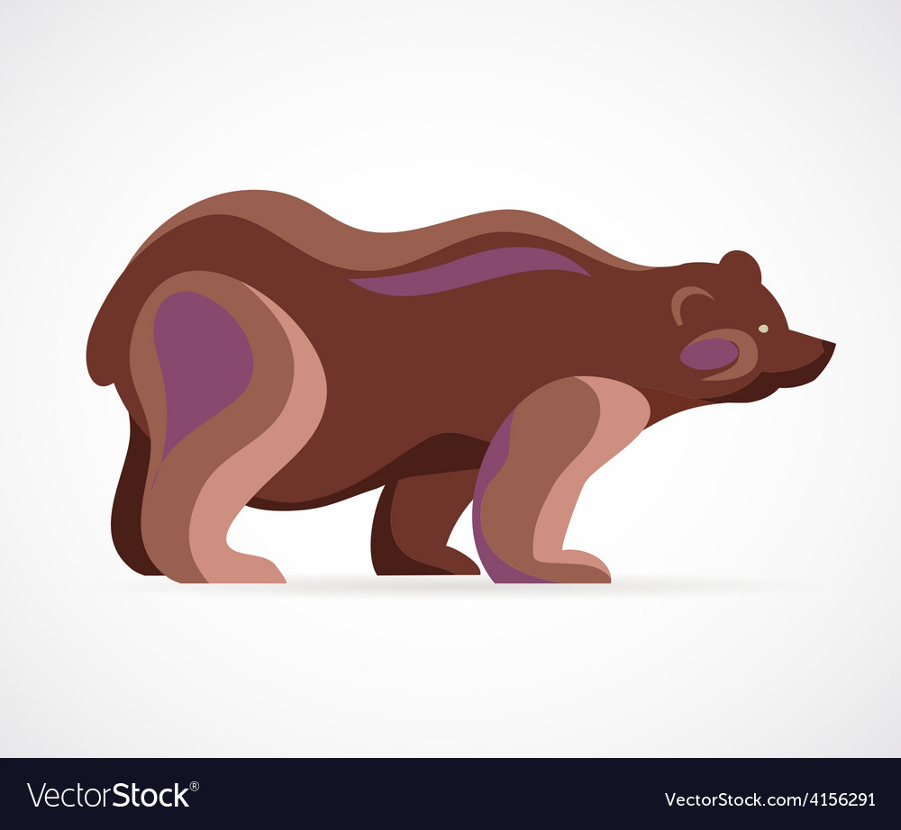 Bear symbol - vector | Price: 1 Credit (USD $1)