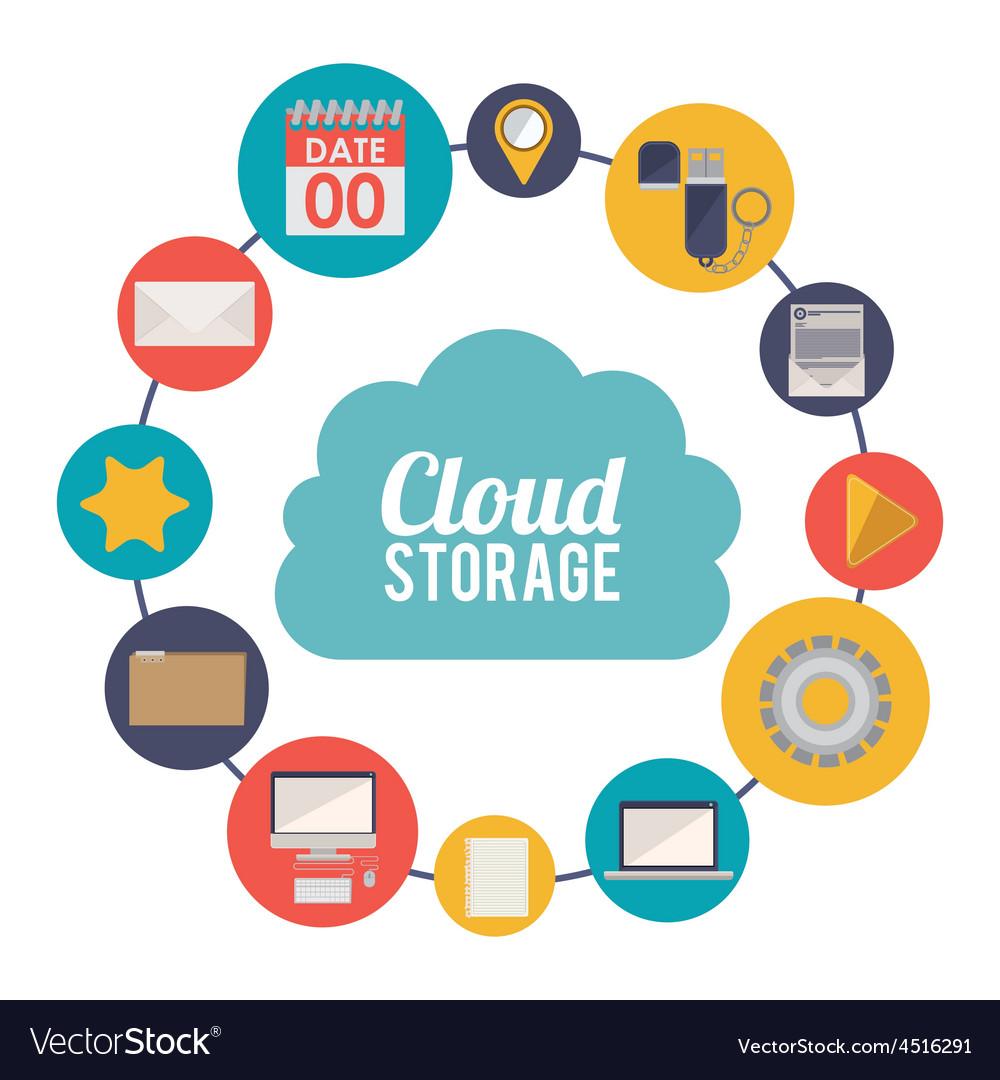 Cloud storage design vector   Price: 1 Credit (USD $1)