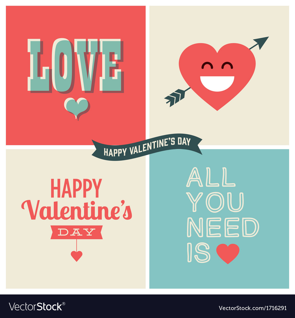 Design elements valentine day set one vector