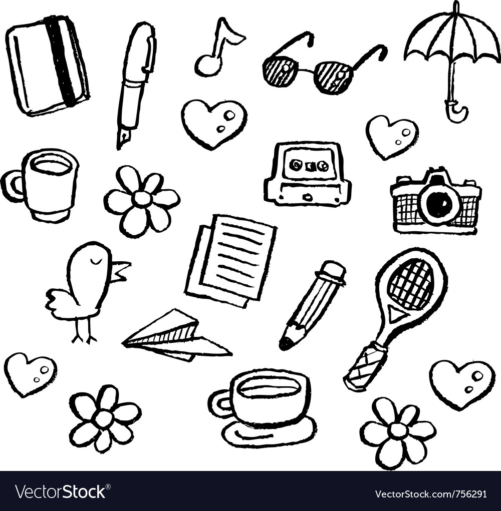 Doodle series - random1 vector | Price: 1 Credit (USD $1)