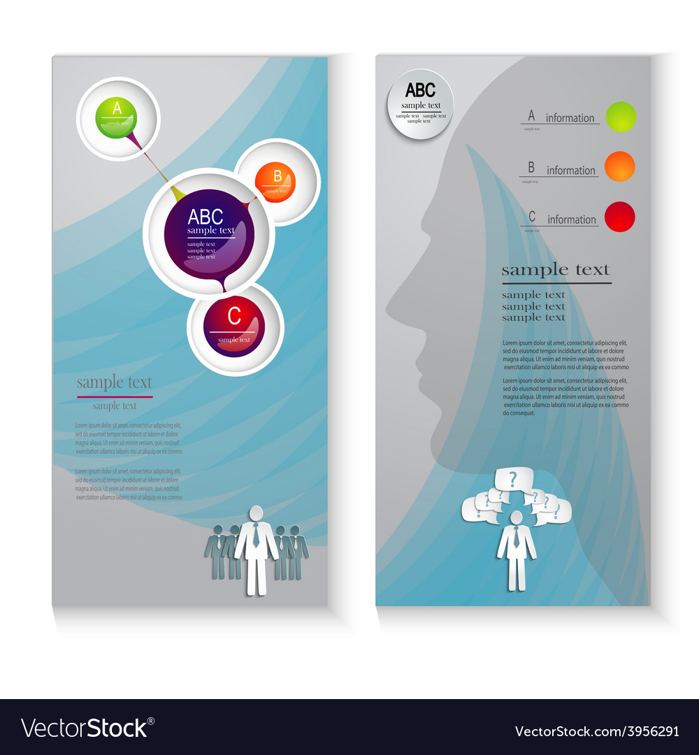 Layout leaflets with elements of infographics vector | Price: 1 Credit (USD $1)