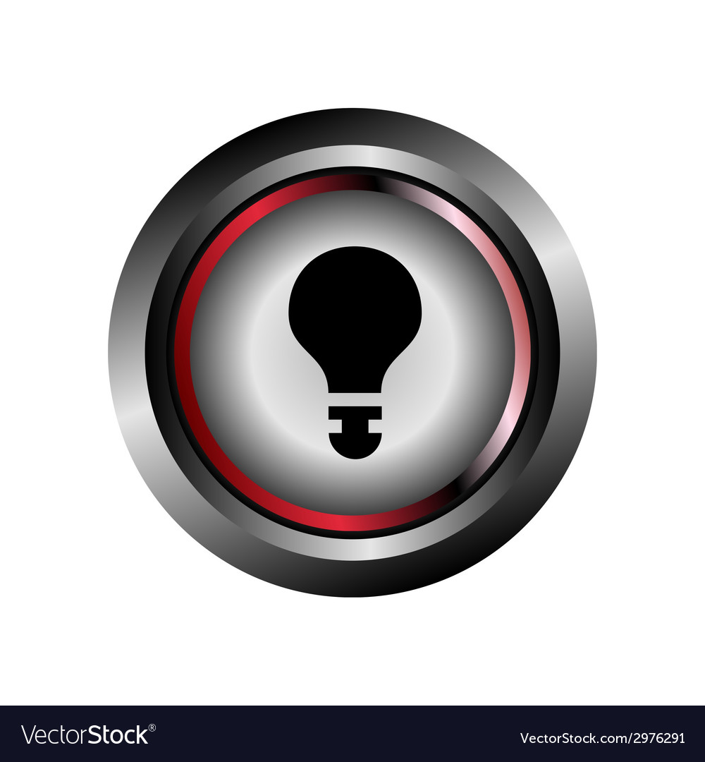 Light bulb sign button vector | Price: 1 Credit (USD $1)