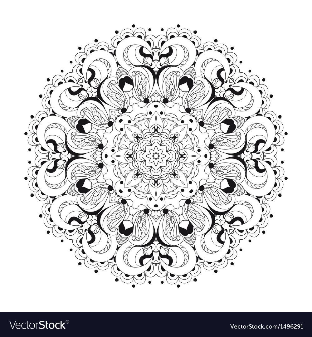 Monochrome lace pattern background vector   Price: 1 Credit (USD $1)