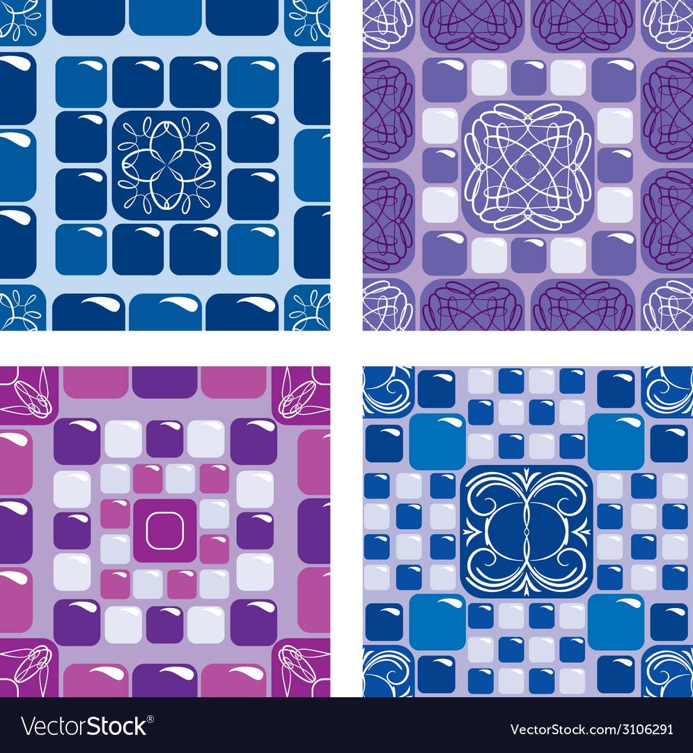 Mosaic seaml set 380 vector | Price: 1 Credit (USD $1)