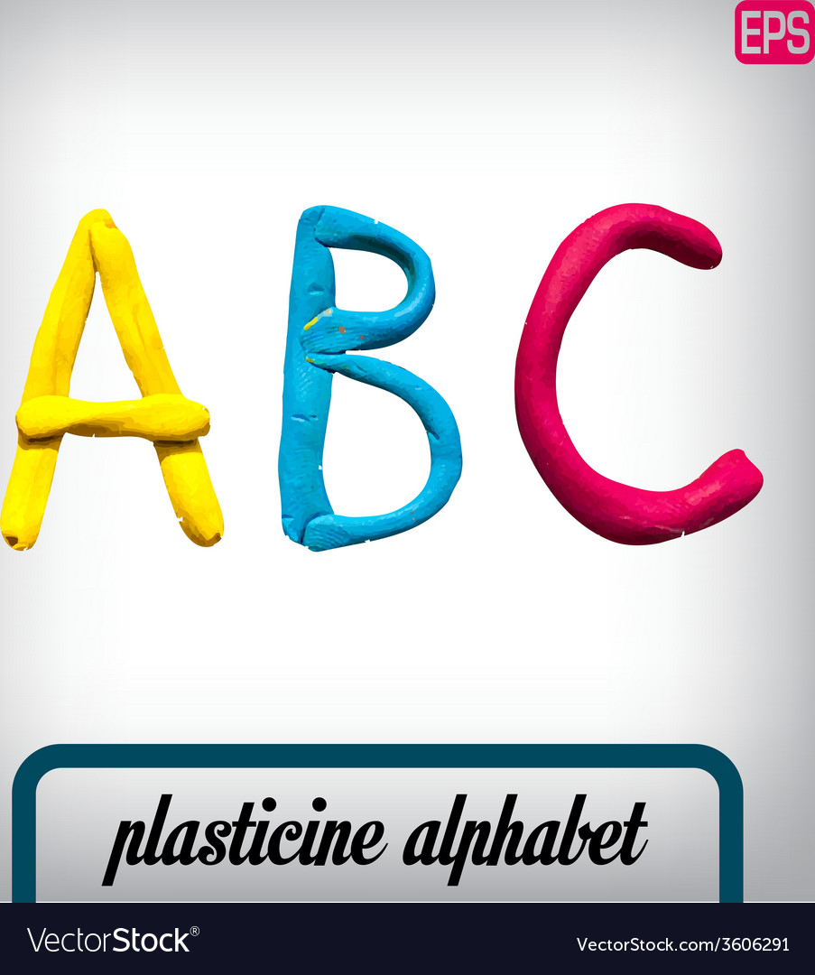 Plasticine alphabet on a background vector   Price: 1 Credit (USD $1)
