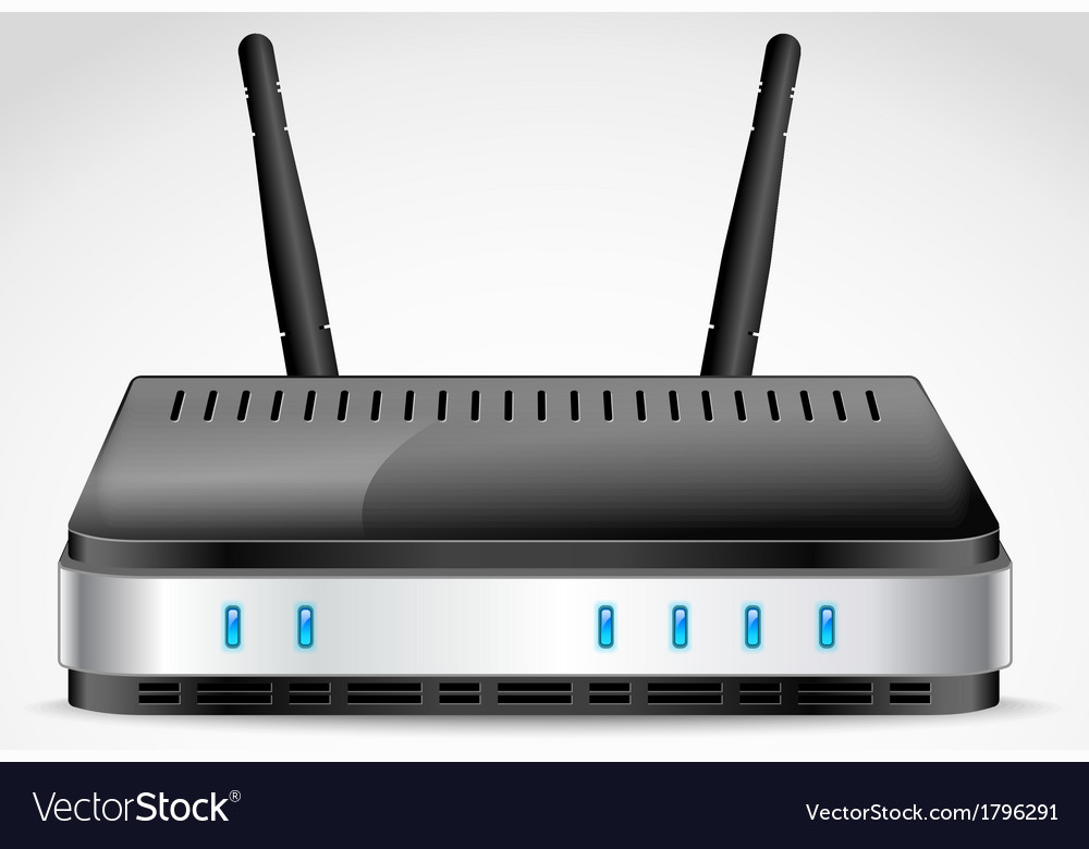 Realistic wi-fi router vector | Price: 1 Credit (USD $1)