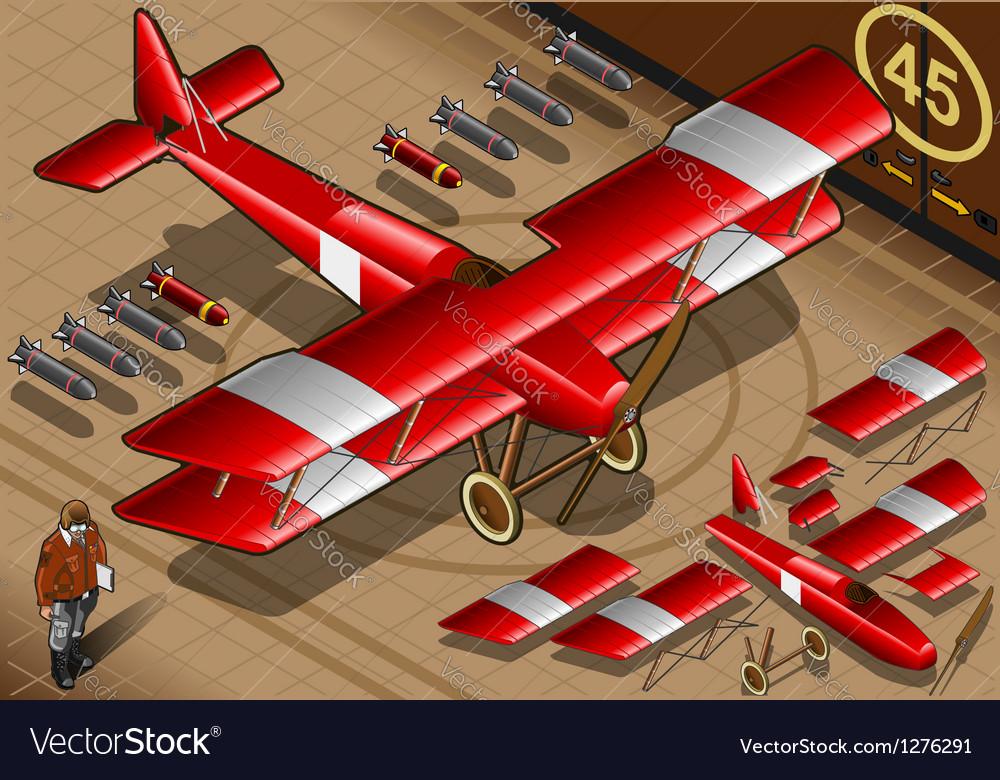 Red biplane vector | Price: 1 Credit (USD $1)